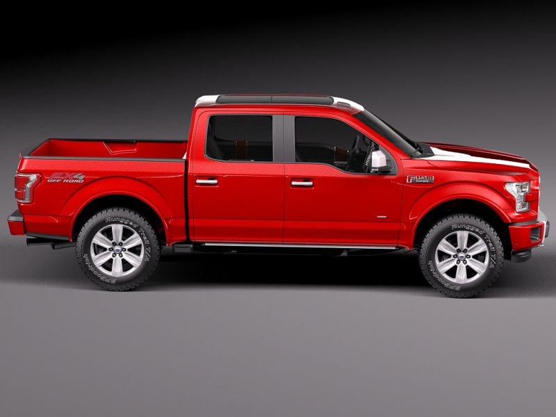 Ford F150 Platinum Crew Cab 2015 3D model