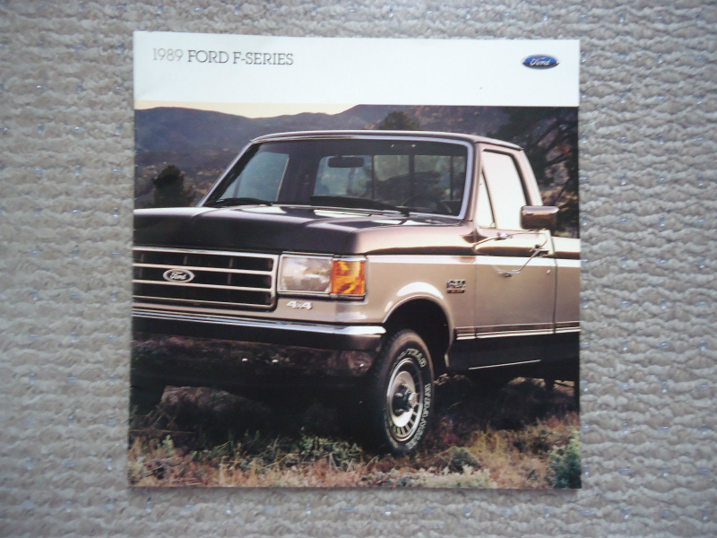 1989 Ford Pickup F Series 100 150 250 350 XL XLT Lariat Literature ...