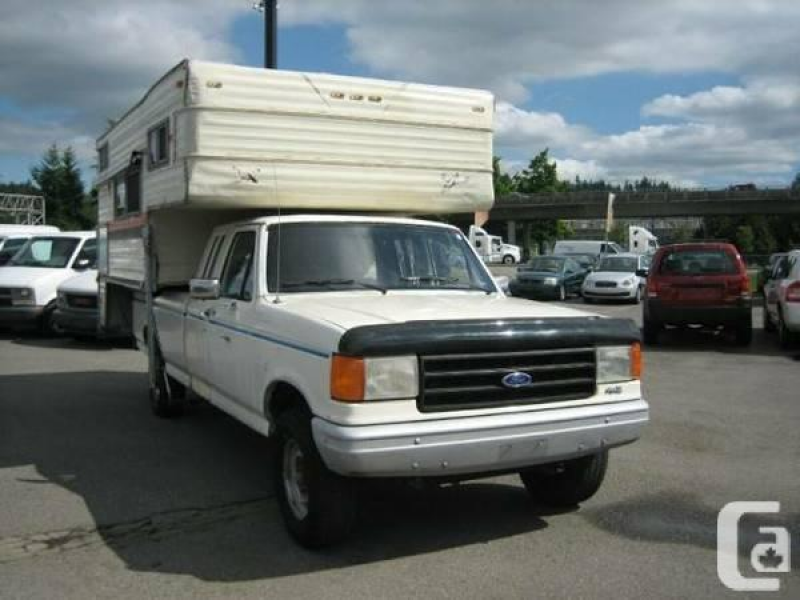 1987 Ford F-250 Supercab & Camper - $2900 in Vancouver, British ...