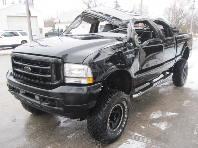 2003 Ford F-350 Lariat Salvage Repairable Gary's Auto Troy Mills Iowa