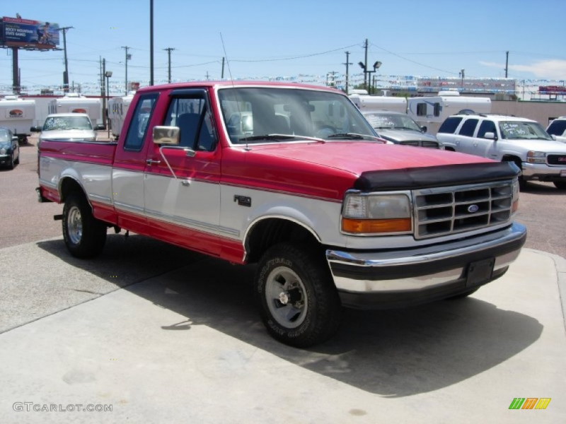 Vermillion Red 1995 Ford F150 XLT Extended Cab 4x4 Exterior Photo ...