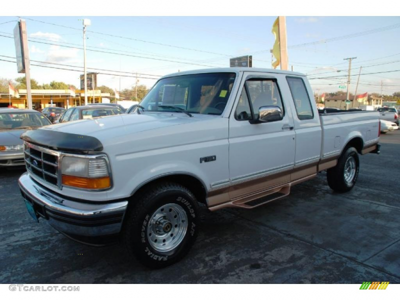 1995 Ford F150 Eddie Bauer Extended Cab - Colonial White Color / Beige ...