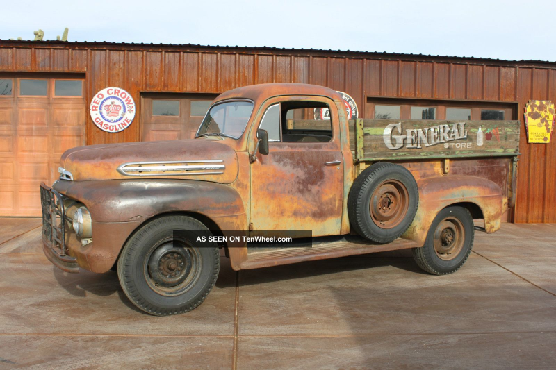 1952 Ford F - 3 Barn Find Survivor Patina Finish Pickup With Flat Head ...