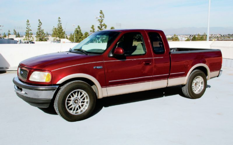 1997 Ford F 150 Lariat Restoration Front Three Quarter