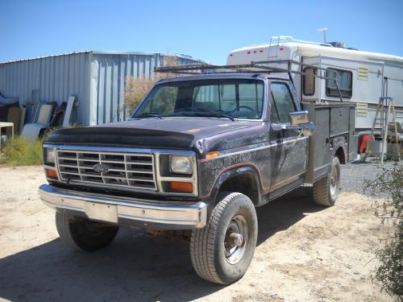 Ford F-350 1984 4x4 DIESEL UTILITY BED BOX documented 78K MILES DESERT ...
