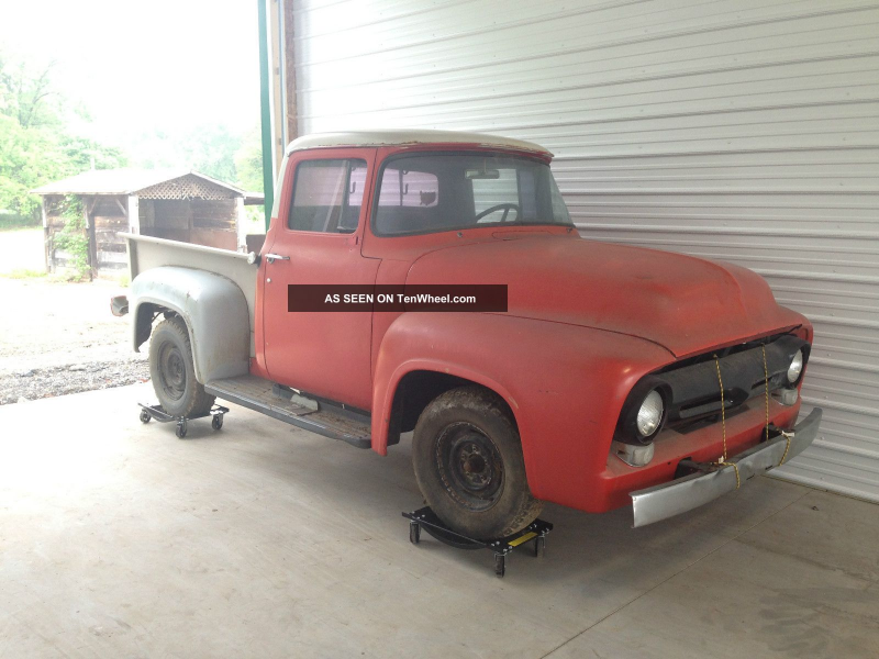 1956 Ford F100 Pickup Truck Very Little Rust Easy Restoration F-100 ...
