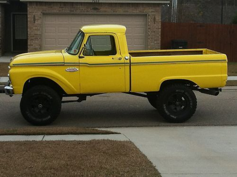 1966 ford f100 4x4 four wheele drive 351 cleveland rims runs great ...