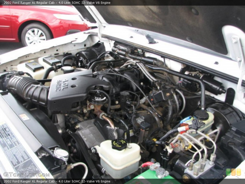 Liter SOHC 12-Valve V6 Engine on the 2002 Ford Ranger XL Regular ...