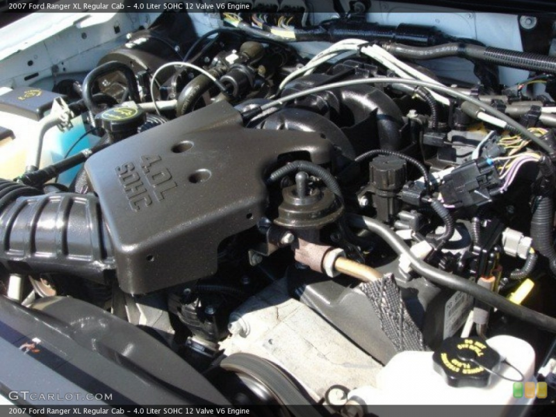 Liter SOHC 12 Valve V6 Engine on the 2007 Ford Ranger FX4 SuperCab ...