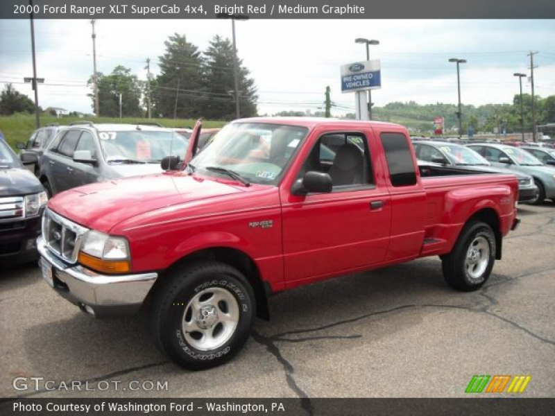 2000 Ford Ranger XLT SuperCab 4x4 in Bright Red. Click to see large ...