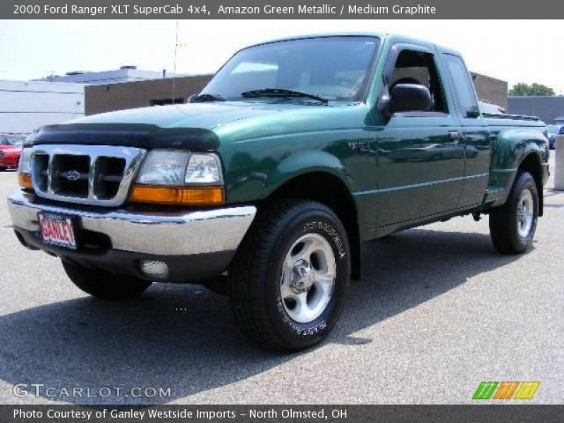 2000 Ford Ranger XLT SuperCab 4x4 in Amazon Green Metallic. Click to ...