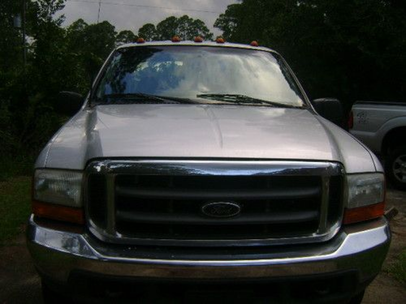 2000 Ford F-350 Crew Cab Single Rear Wheels 4 Wheel Drive Long Bed on ...