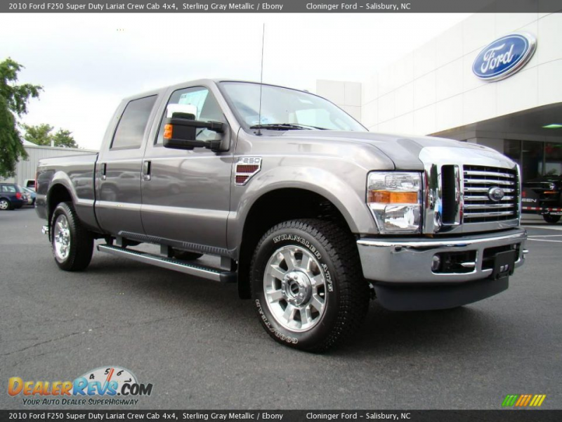 2010 Ford F250 Super Duty Lariat Crew Cab 4x4 Sterling Gray Metallic ...
