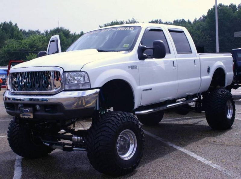 Jacked Up Ford F-350 4x4 Super Duty