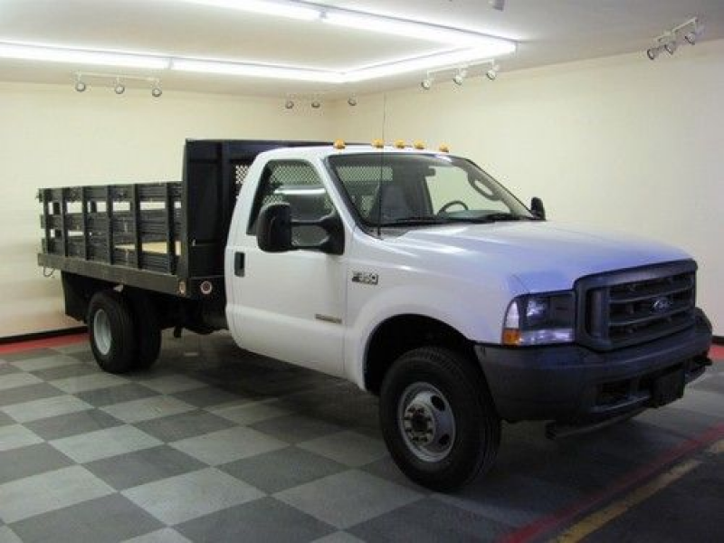 2003 FORD F350 POWERSTROKE DIESEL 4 WHEEL DRIVE DUMP BED STAKE BED ...