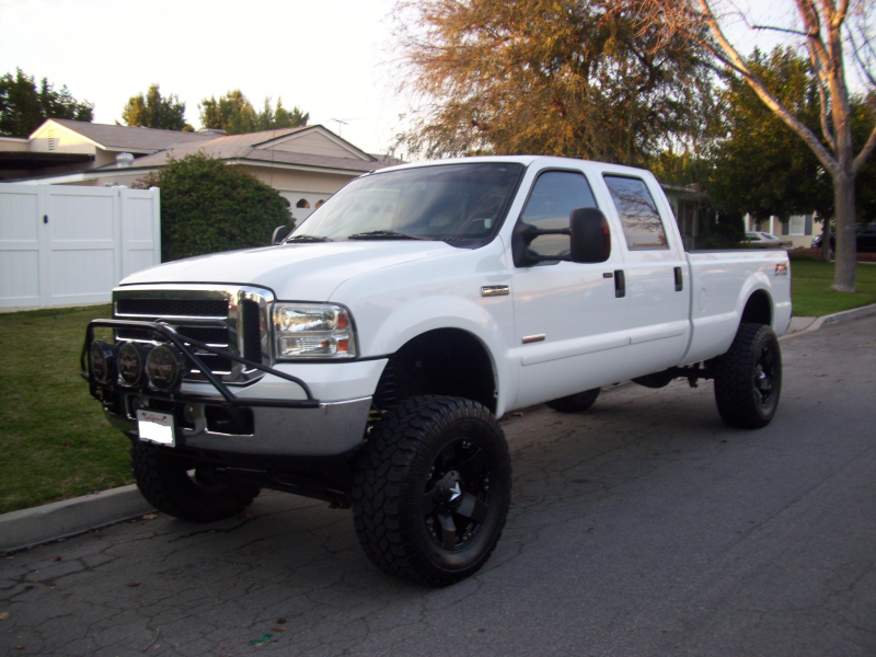 2006 Ford F350 Crew Cab Fx4 Lb White Lariat Lifted., 6.0 Diesel 4x4 ...