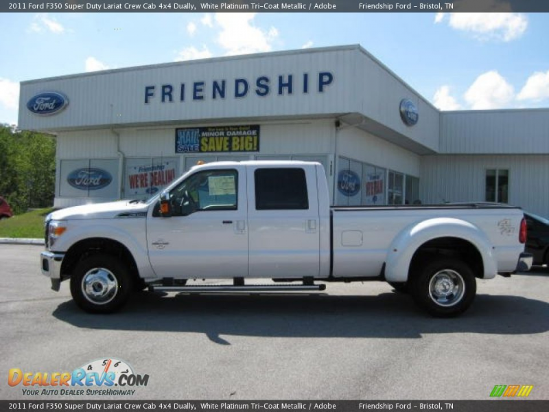 2011 Ford F350 Super Duty Lariat Crew Cab 4x4 Dually White Platinum ...