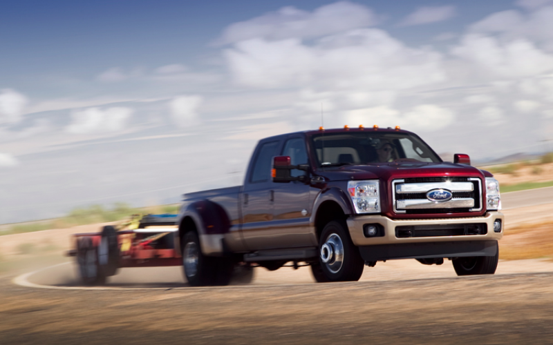 2011 Ford F 350 Drw King Ranch Front View Towing