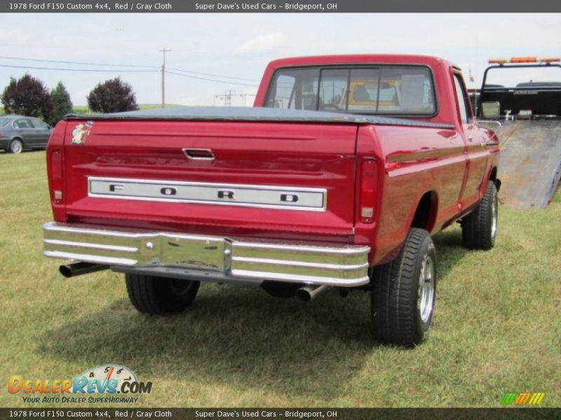 1978 Ford F150 Custom 4x4 Red / Gray Cloth Photo #10