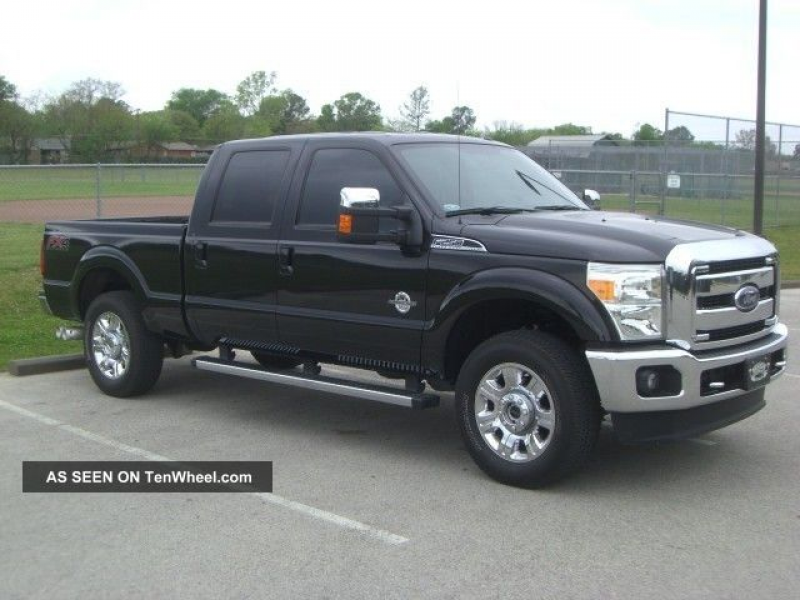 2012 Ford F250 Lariat Diesel Fx4 4x4 Crewcab Shortbed F-250 photo 9