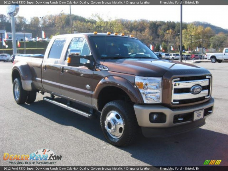 2012 Ford F350 Super Duty King Ranch Crew Cab 4x4 Dually Golden Bronze ...