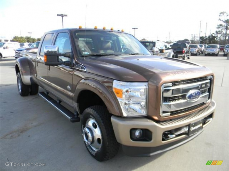 Golden Bronze Metallic 2012 Ford F350 Super Duty King Ranch Crew Cab ...