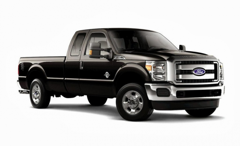 Ford F-350 Super Duty black Truck body style