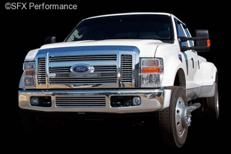 Grille; Polished 2008-2009 Ford Super Duty - Bumper Grille Center Only
