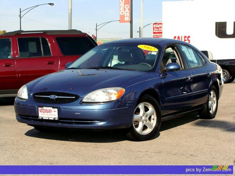 Blue 2002 Ford Taurus SES with Gray Cloth seats