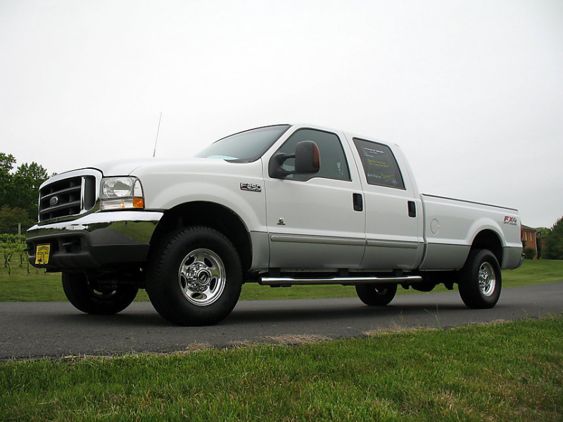 2003 Ford F250 Crew Cab Long Bed Diesel Pickup Truck