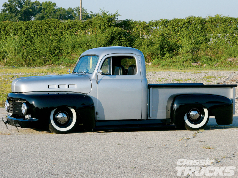 1948 Ford F1 Pickup Truck Front Side Shot