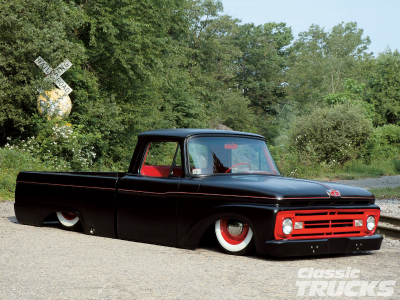 1963 Ford F100 Pickup Truck Custom Lowered Suspension