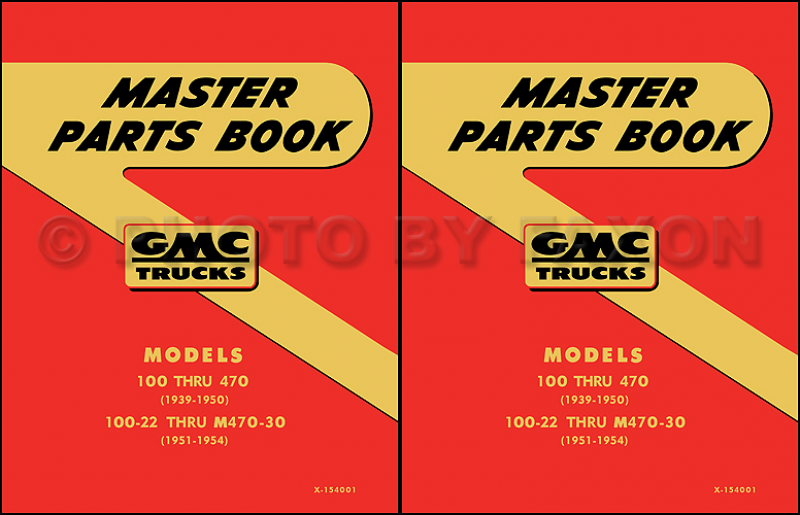 GMC Parts Book 1951 1952 1953 1954 1955 1st Series Pickup and Truck ...