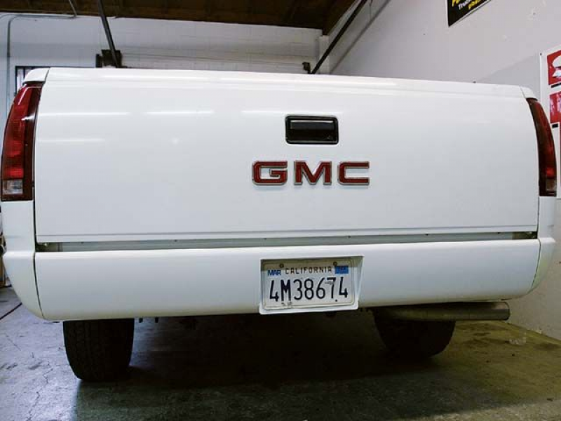 1991 Gmc Pickup Rear Tailgate View