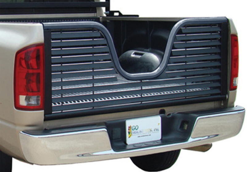 ... Go Industries GMC Sierra Black Powdercoat Louvered V-Style Tailgate