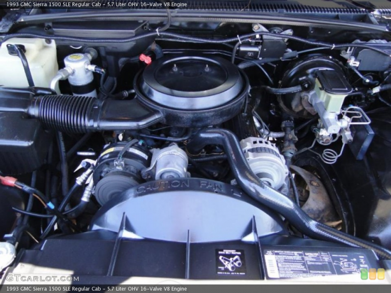 ... OHV 16-Valve V8 Engine on the 1993 GMC Sierra 1500 SLE Regular Cab