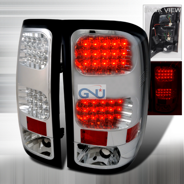 chrome led tail lights view all gmc sierra tail lights all gmc sierra ...