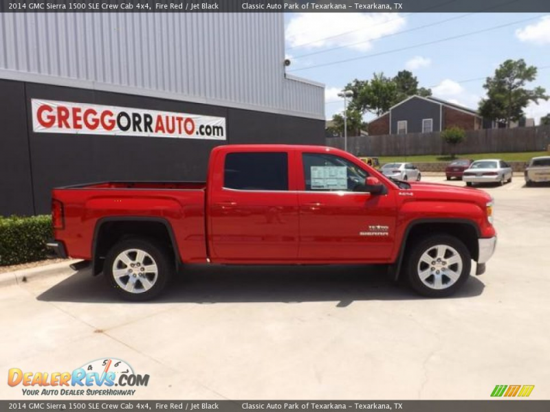 2014 GMC Sierra 1500 SLE Crew Cab 4x4 Fire Red / Jet Black Photo #5