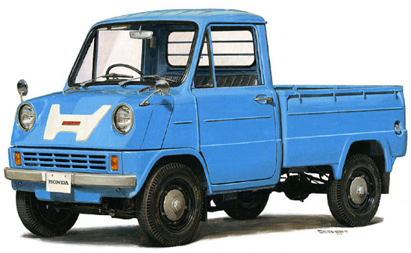 ... History: Honda's Wild 9000 RPM Mid-Engine T360 Pickup Of 1963
