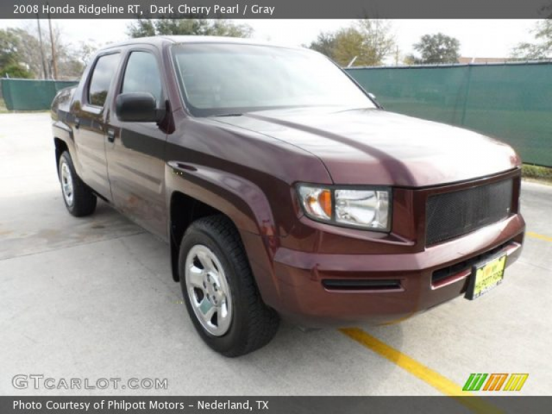 2008 Honda Ridgeline RT in Dark Cherry Pearl. Click to see large photo ...