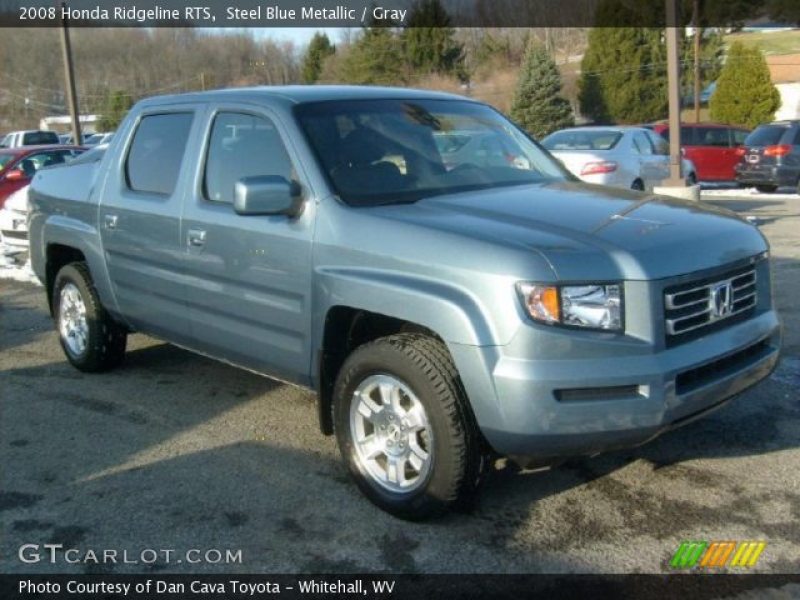2008 Honda Ridgeline RTS in Steel Blue Metallic. Click to see large ...