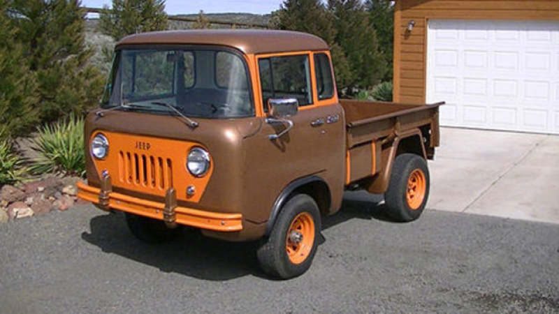 ... this awesome 1961 Jeep FC150 currently listed on Ebay has it all