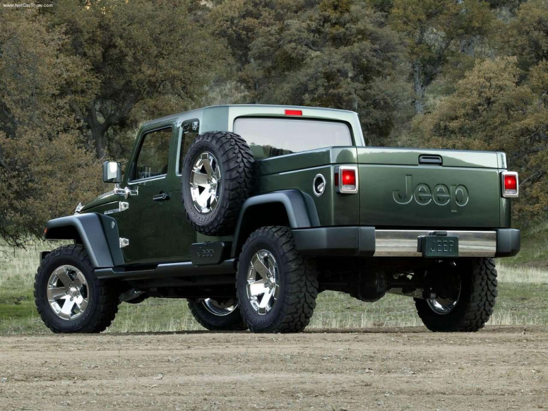 the famous jeep design with that of a pickup truck