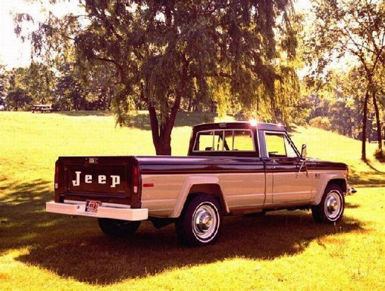 Rear Right 1978 Jeep J-20 Pickup Truck Picture