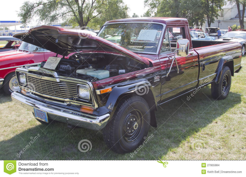 MARION, WI - SEPTEMBER 16: 1980 Jeep J-20 Truck at the 3rd Annual Not ...