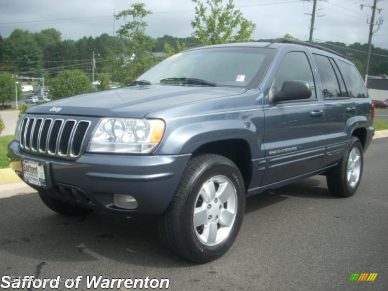 2001 Jeep Grand Cherokee Limited 4x4 - Steel Blue Pearl Color / Agate ...